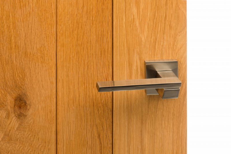 SP-203-SN ON OAK DOOR